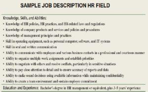 Project Manager Job Description Sample
