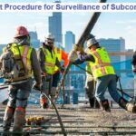 Project Management Procedure for Surveillance of Subcontractors' Operations