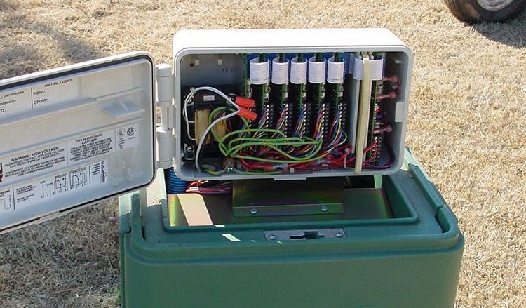irrigation satellite controller installation method